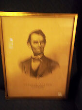 ABRAHAM LINCOLN CURRIER PRINT THE NATIONS MARTYR 1865