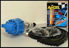 AMC JEEP 232 258 6 CYLINDER  HEI DISTRIBUTOR & ACCEL WIRES 6511-BLUE+5040-K-KIT