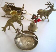 Christmas Collection Four Reindeer With Sleigh Bell Dish & Candleholder