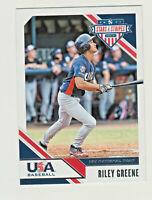 2020 Panini USA Stars & Stripes USA #90 RILEY GREENE RC Rookie Detroit Tigers