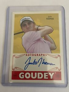 2016 Upper Deck Goodwin Champions Goudey Justin Thomas AUTO #GAJT Rookie RC Mint