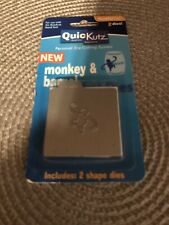 New listing Quickutz DoubleKutz Monkey & Barrel Thin Metal Die Ks-0232 New!