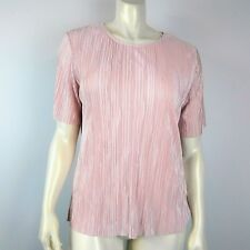 Womens DUNNES Textured Pink Top Size 18 EUR 46