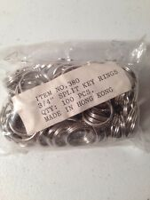 "100 Piece Bag of Vintage 3/4"" Split Rings Made in Hong Kong"