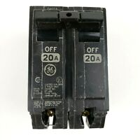 GE 20A 2 POLE 120/240v Circuit Breaker Type THQL