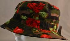 Asphalt Camo Rose Bucket Hat,Cap,NWT,OSFM,Multi-Colored,Abstract,New
