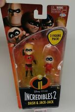 Disney Pixar Incredibles 2 Dash & Jack Jack Figures Jakks Pacific Collectable