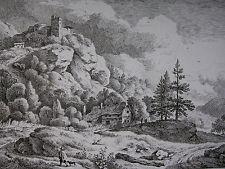 RECHBERGER ´HÜTTE MIT 3 FICHTEN NACH C. W. E. DIETRICH (DIETRICY)´ N. 42, 1795