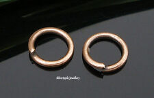 50 x 5mm Open jump rings in Rame Tono forte sagoma 1mm