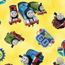 Thomas the Tank Engine 24355-S Steam Team Yellow Train Quilt Cotton Fabric