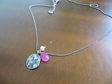 "Silpada ""Bravery"" Breast Cancer Awareness Sterling Hope Necklace N3160"