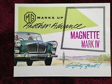 MG Magnette MK IV Dealer Sales Brochure - Original - Excellent Condition