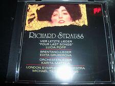 Richard Strauss Orchestral songs (Sony Classics) CD Popp/Grubernova/ Mattilla/ls