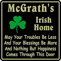 Personalized Irish Pub Bar Beer Home Decor Gift Plaque Sign #10 Custom USA Made