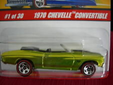 Hot Wheels Classics 1970 Chevelle Convertible #1 of 30 Series 2 Greenish yellow