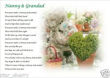 NANNY & GRANDAD (Grandparent)  A4 Laminated Gift