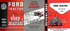 Ford 3 Manual Set 1957 1958 1959 1960 621 631 641 651 661 821 841 851 861