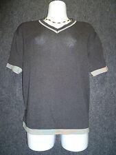 FABRIZIO DEL CARLO Charcoal 100% Cotton V- Neck Sweater SZ M NEW