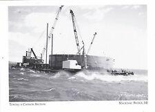 "~Post Card~""Towing A Caisson Section"" *Mackinac Bridge Michigan (A-2)"