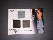 James Bond In Motion Authentic Triple Wardrobe Relic Card Of James Bond.
