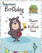Open Male ~ Birthday Card~happy Birthday~ Cheers To You~ Free P&P