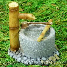 New Vivid Arts Miniature World - Japanese Miniature Garden- Bamboo water Feature