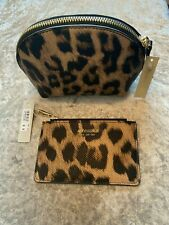 Brand New Accessorize Leopard Print make up bag and purse set