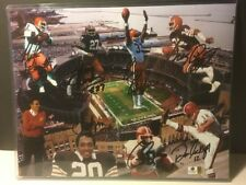 Cleveland Browns Team Kardiac Kids Signed 14 X 11 Reggie Rucker +++ (8 AUTOS)COA