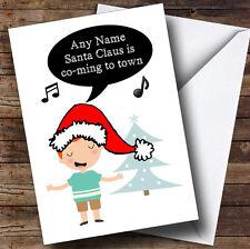 Sing Santa Claus Is Coming Personalised Christmas Card