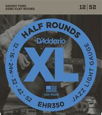 D'Addario Ehr350 Half Rounds Jazz Light Electric Guitar Strings 12-52