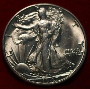 Uncirculated 1947-D Denver Mint Silver Walking Liberty Half