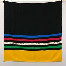 VINTAGE YVES SAINT LAURENT 100% SILK SCARF METROPOLITAN MUSEUM OF ART NEW YORK