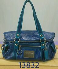 COACH Poppy POP Starlet Starlit Blue Patent Leather Tote Bag - 13832