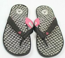 adidas adissage thong sandal pink black womens size 6 flip flop