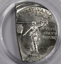 1999 PCGS MS66 Off Center On Straight Clip Pennsylvania Quarter Mint Error Rare