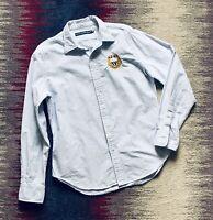 Ralph Lauren Womens Shirt Blouse White Blue Stripe Size 10 Vgc