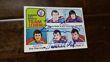 1975-76 TOPPS SCOUTS LEADERS CARD DUEL SIGNED SIMON NOLET WILF PAIEMENT # 319