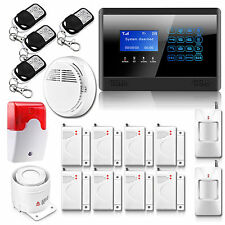 Wireless Wired LCD GSM Home House Alarm System Auto Dialer Kit Wired Flash Siren