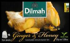 Dilmah Tee-Ginger & Honey flavoured black Ceylon Tea 20 bustina del tè