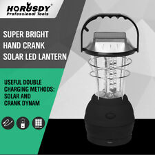 Outdoor Solar Powered Camping Lantern Light 36 LED Hand Crank Lamp Father Gift