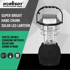 Outdoor Solar Powered 36 LED Hand Crank Camping Lantern Light Lamp Bright 2 Mode