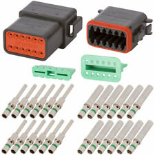 DT Enhanced Seal 12 Pin Black Connector Kit w/ 14 AWG Solid Contacts