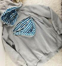 Roo Coat heather grey reversible maternity sweatshirt SIZE XL over baby carrier