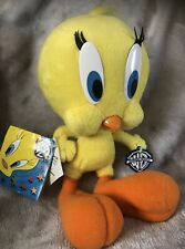 """More details for 1994 looney tunes tweety pie warner bros with tags soft plush 12"""" vgc"""