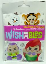 Disney Pin Collectible  WISHABLES   Mystery Pack Randomly SEALED Set of 5