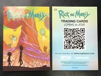 SDCC 2018 EXCLUSIVE Cryptozoic Rick and Morty Promo Trading Card P8 Adult Swim