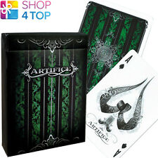 ELLUSIONIST ARTIFICE EMERALD GREEN PLAYING CARDS DECK BICYCLE MAGIC TRICKS NEW