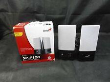 GENIUS 2.0-CH SP-F120 Desktop Speakers (Black/Silver)