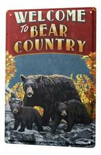 Tin Sign Holiday Travel Agency  Bear Country