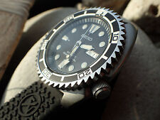 SEIKO NEW TURTLE CUSTOM BEZEL - THE.SHARK.ONE - ST.STEEL  - POLISHED NTD-2-P